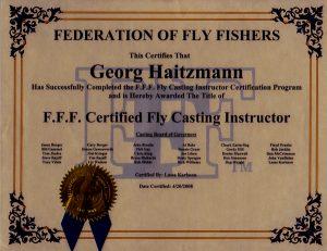 Über mich Fliegenfischen Lernen